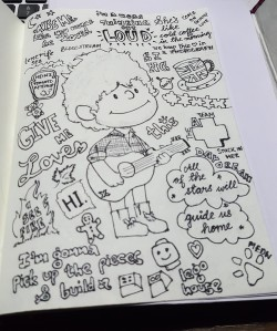Ed Sheeran Doodle BW